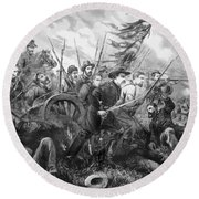 Union Charge At The Battle Of Gettysburg Round Beach Towel