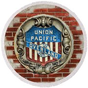 Union Pacific Crest Round Beach Towel