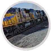 Union Pacific Southbound Round Beach Towel