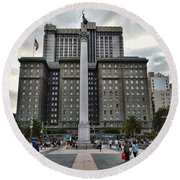 Union Square Courtyard Round Beach Towel