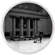 Union Station Chicago The Great Hall Round Beach Towel
