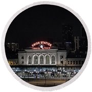 Union Station Denver Colorado 2 Round Beach Towel