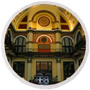 Union Station Lobby-large Size Round Beach Towel