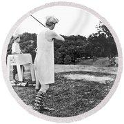 Union Suit Golfer Round Beach Towel