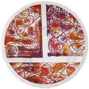Unique Abstract II Round Beach Towel by Yael VanGruber
