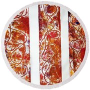 Unique Abstract Round Beach Towel