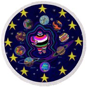 United Planets Of Eurotrazz Round Beach Towel