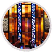 United States Air Force Academy Cadet Chapel Detail Round Beach Towel