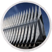 United States Air Force Academy Cadet Chapel Round Beach Towel