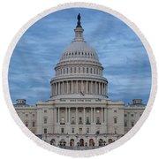 United States Capitol Building Round Beach Towel by Kim Hojnacki