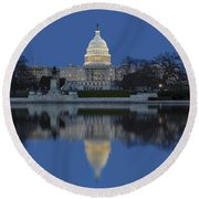 United States Capitol Building Round Beach Towel by Susan Candelario