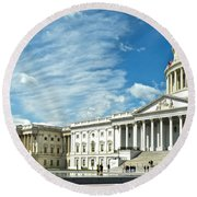 United States Capitol Round Beach Towel