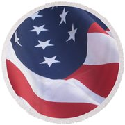 United States Flag  Round Beach Towel