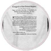 United States Mint, 1792 Round Beach Towel