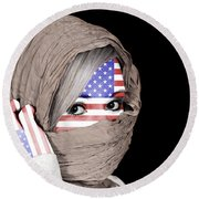 United States Of America Round Beach Towel