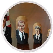 United States Presidents Round Beach Towel