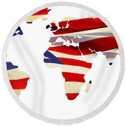 United Worldwide Round Beach Towel