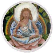 Universal Goddess Round Beach Towel