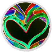 Universal Sign For Love Round Beach Towel