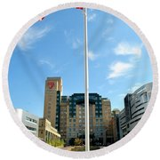 University Hospital Round Beach Towel