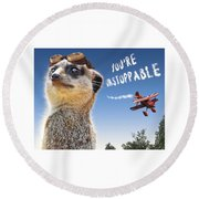 Unstoppable Round Beach Towel