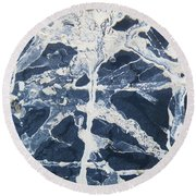 Untitled Clay On Rubber Round Beach Towel