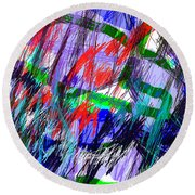 Untitled Drawing Round Beach Towel