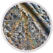 Pond Abstract Round Beach Towel
