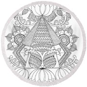 Untitled Round Beach Towel by MGL Meiklejohn Graphics Licensing