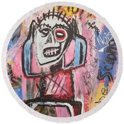Untitled Noise Round Beach Towel