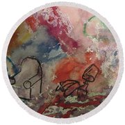 Untitled Watercolor 1998 Round Beach Towel
