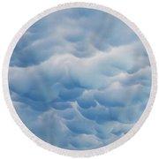Unusual Cloud Formation Round Beach Towel