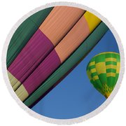 Up And Away Round Beach Towel