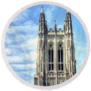 Up In The Sky Round Beach Towel