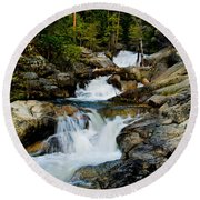 Up The Creek Round Beach Towel