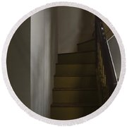 Up The Staircase Round Beach Towel