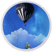 Up Through The Atmosphere Round Beach Towel