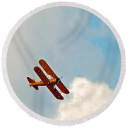 Up Up In The Sky  Round Beach Towel