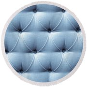 Upholstery Background Round Beach Towel