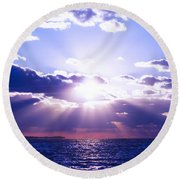 Uplifted Round Beach Towel