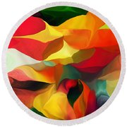 Uplifting Psychically  Round Beach Towel