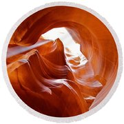 Upper Antelope Canyon 1 Round Beach Towel