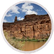 Upper Colorado River View Round Beach Towel