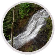 Upper Little Falls Round Beach Towel