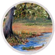 Upper Valley Round Beach Towel