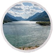 Upper Waterton Lake Round Beach Towel