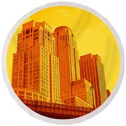 Upper West Side And Hudson River Manhattan Round Beach Towel