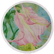 Upside Down Watercolor Round Beach Towel