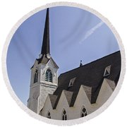 Upstate Church Round Beach Towel