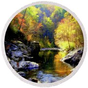 Upstream Round Beach Towel